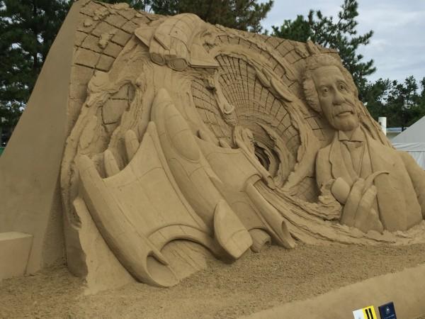 砂、砂、こんなにできるのね
