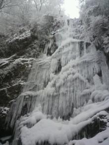 息子が見てきた氷の滝 福岡で
